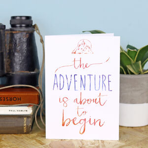 'Adventure' Wanderlust Greeting Card