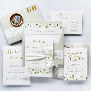 Ivory Garden Invitation Parcel Bundle - invitations