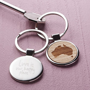 Personalised Our Happy Place Key Ring - men's accessories