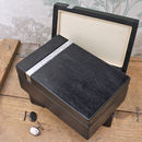 Mens Black Onyx Cuff Link Box
