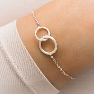 Lia Personalised Infinity Circle Of Life Bracelet - december birthstone