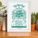 fathers day best dad family gift print poster