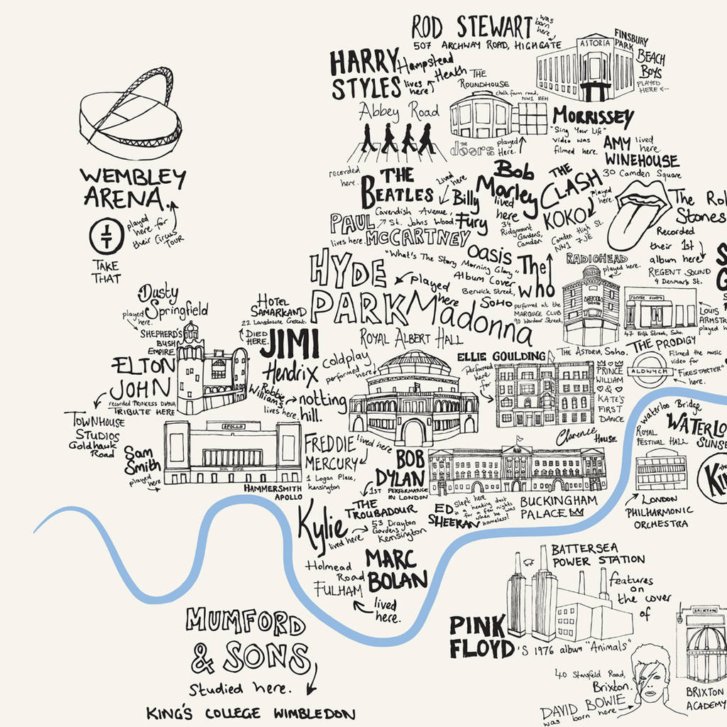 illustrated london map