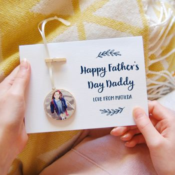 Personalised Father's Day Photograph Keepsake Card