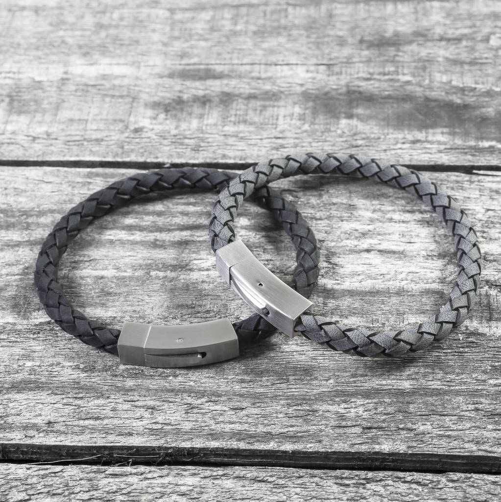 Personalised Hidden Message Leather Bracelet by Capture &Amp; Keep