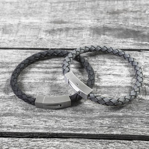 Personalised Hidden Message Leather Bracelet - best valentine's gifts for him