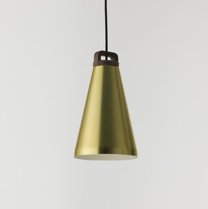 Handle Pendant Lamp, Narrow, Brass - ceiling lights