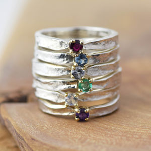 Thumbelina Designer Birthstone Ring