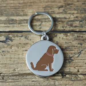 Cockapoo Dog ID Name Tag - summer sale