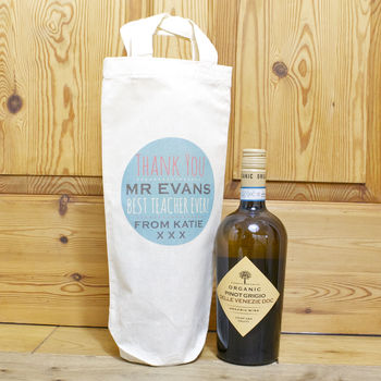 Personalised Best Teacher Bottle Bag