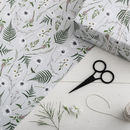 Botanical Gift Wrap Wild Meadow Grey