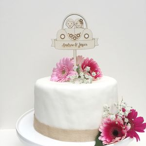 Personalised Car Wedding Cake Topper - weddings sale