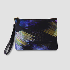 Erica Silk And Leather Wrislet - clutch bags