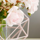 Rose Pink Geometric Candle Holder Lantern