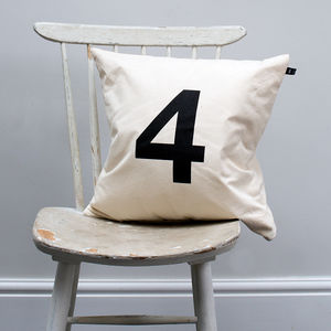 Number 'Four' Cushion Cover - children's room