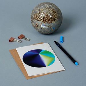 Circular Flash Print Greeting Card