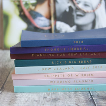 Personalised Cover And Spine Foiled Notebook