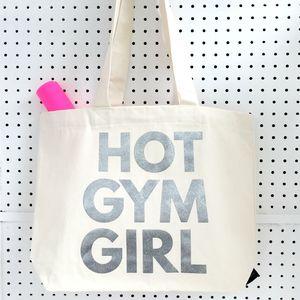 'Gym Bag' Metallic Silver Print