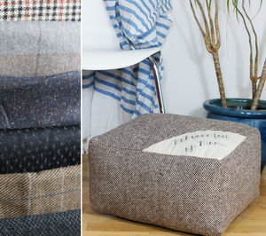 Made To Order Bespoke 'Put Your Feet Up Mum' Footstool - floor cushions & beanbags