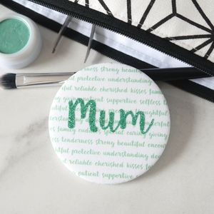 Personalised Mother's Day Glitter Pocket Mirror - new in health & beauty