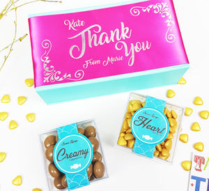 Personalised 'Thank You' Gluten Free Chocolate Box - chocolates