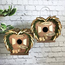 Set Of Two Love Bird Nest Boxes