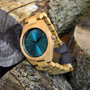 Engraved Bamboo Wrist Watch Gift