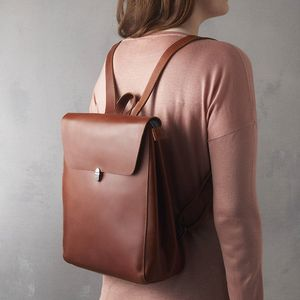 Eazo Leather Backpack - backpacks