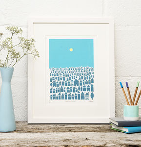 Little Town Houses Limited Edition Screen Print