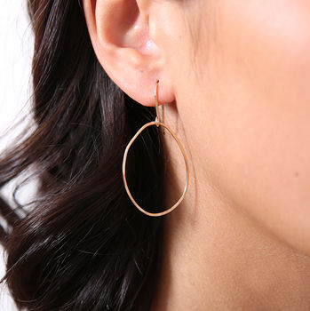 Freeform Hoop Earrings