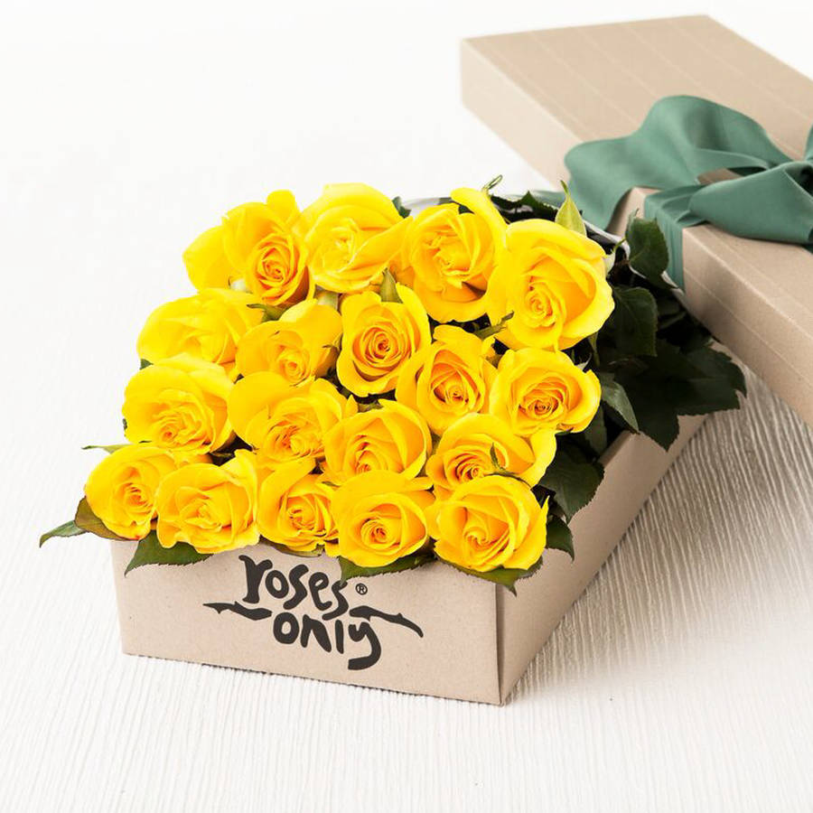 yellow rose golden wedding anniversary gift bouquet by roses only ...
