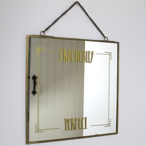 Metal Framed 'Perfect' Mirror - mirrors