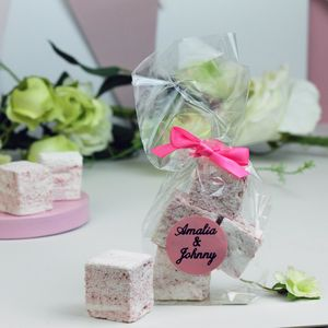 Personalised Prosecco Marshmallow Wedding Favours