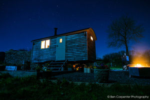 Shepherd Hut Two Night Star Stay And Wood Fired Hot Tub - valentine's gifts for her