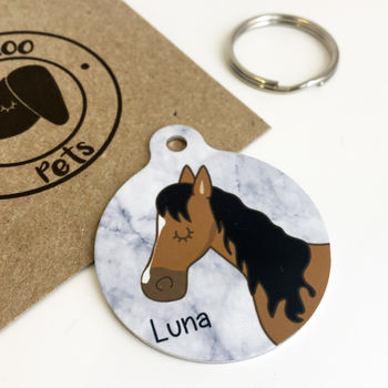 Personalised Horse ID Tag Marble