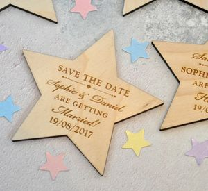 Personalised Save The Date Star Magnet - new in wedding styling