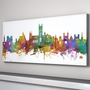 Canterbury Skyline Cityscape Art Print - architecture & buildings