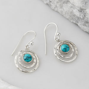 Turquoise Infinity Universe Earrings - birthstone jewellery gifts