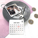 Personalised Photo Calendar Couple's Keyring