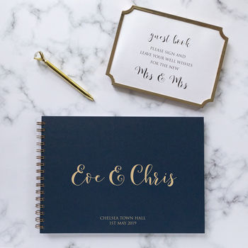 Couple's Personalised Guest Book, Memory Book Or Album