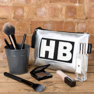 Personalised Silver Make Up Bag - make-up & wash bags