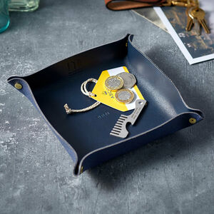 Personalised Luxury Leather Pop Up Travel Tray