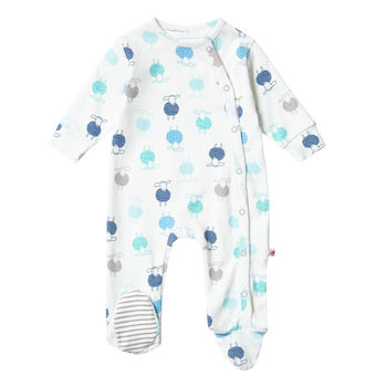 Unisex Organic Cotton Sheep Footed Baby Sleepsuit