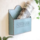 Personalised French Blue Wall Mounted Family Organiser