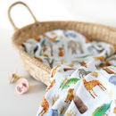 Muslin Swaddle Blanket African Safari