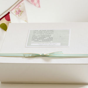 Personalised Christening Keepsake Box