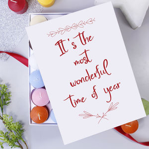 Christmas Quote Scented Advent Calendar - candles & home fragrance