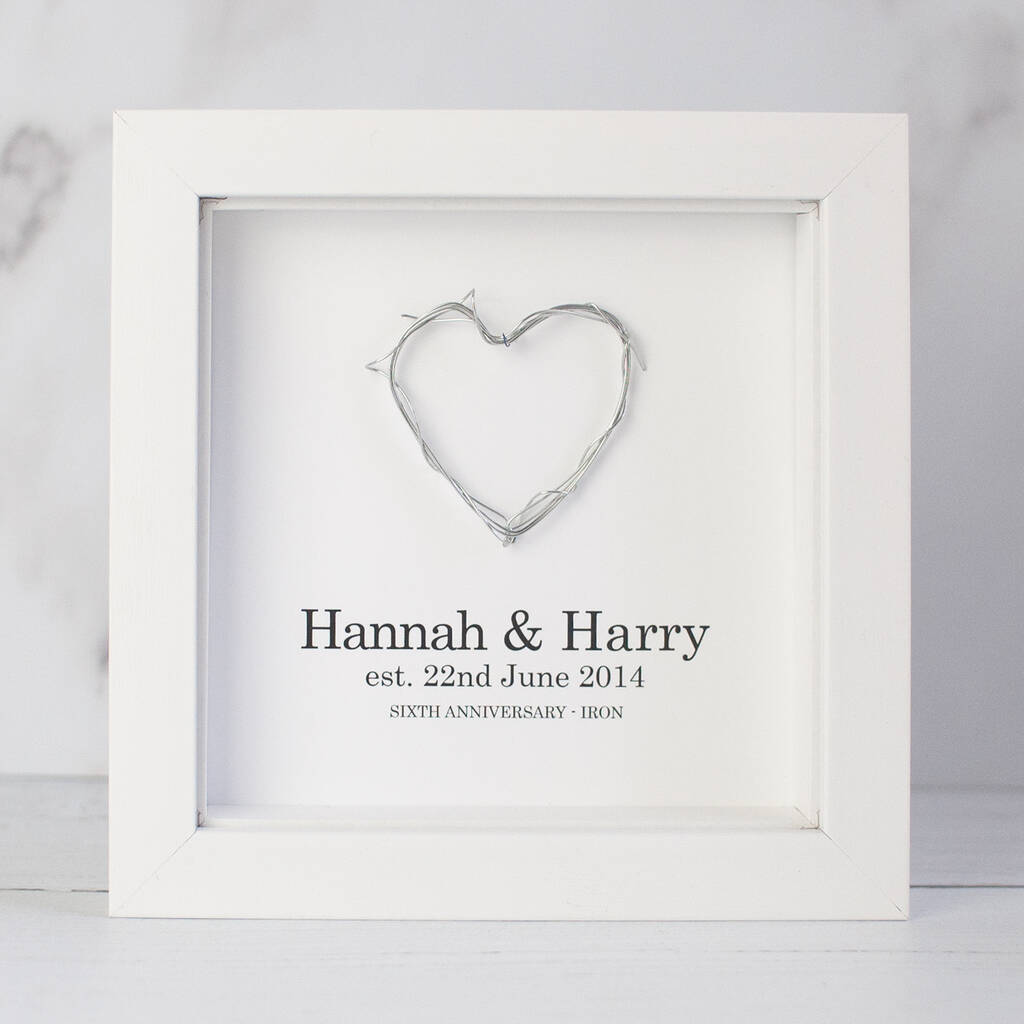 Personalised 6th Wedding Anniversary Gift Iron Heart By A Few Home Truths Notonthehighstreet Com