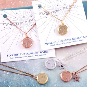 It's Written In The Stars Horoscope Necklace