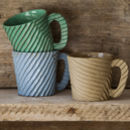Corrugated mugs
